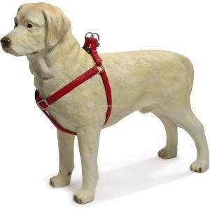 Hondentuig Mac Leather 50-75cm rood