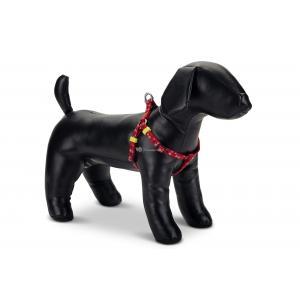 Hondentuig nylon Stars 35-60cm rood