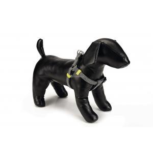 Hondentuig nylon Vista 46-75cm donkergrijs