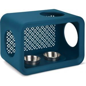Cat Cube kattenvoerbak petrol
