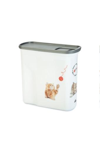 Curver - voedselcontainer kat - wit - 2l - 1kg