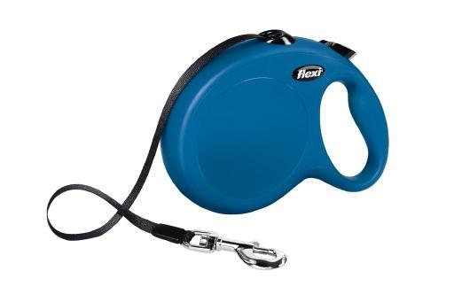 Flexi new classic hondenriem band blauw l 8m