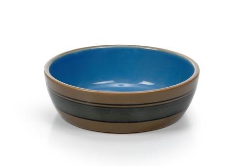 Beeztees poezenschaal kattenvoerbak keramiek blauw 12,5 cm