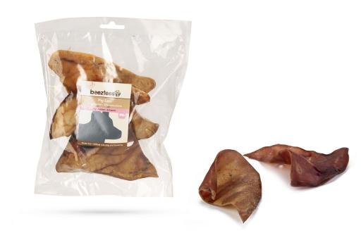 De beeztees varkensoren zijn een heerlijke traktatie voor jouw hond. op deze gezonde kauwsnack moet flink ...