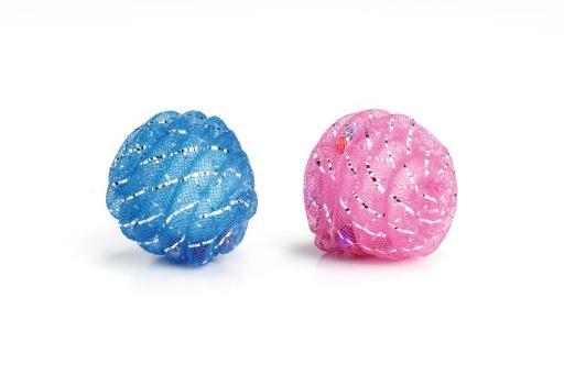 Beeztees bal+kraaltjes - kattenspeelgoed - 5 cm - 2st