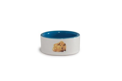 Beeztees - hamstervoerbak - keramiek - blauw - diam. 7,5 cm