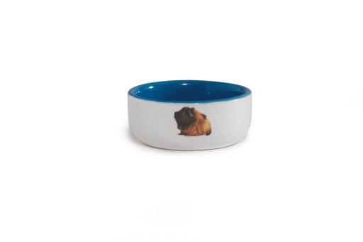 Beeztees - caviavoerbak - keramiek - blauw - diam. 10 cm