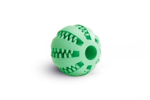 Beeztees massagebal hondenspeelgoed rubber mint 7 cm