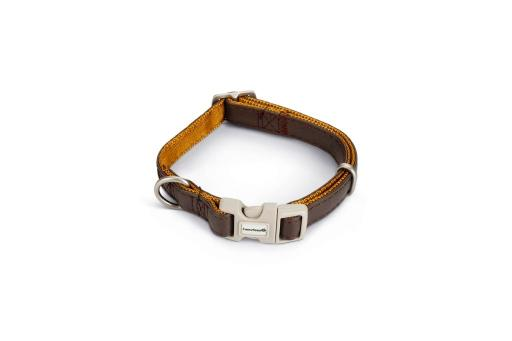Macleather Soft touch Hondenhalsband Bruin 40 x 1,5 cm