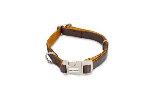 Macleather Soft touch Hondenhalsband Bruin 50 x 2 cm