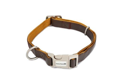 Macleather Soft touch Hondenhalsband Bruin 70 x 2,5 cm