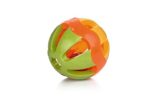 Beeztees wiggle bal knaagdierspeelgoed plastic 13 cm
