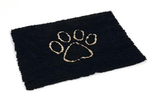 Dirty dog droogloopmat hond zwart 90x66 cm