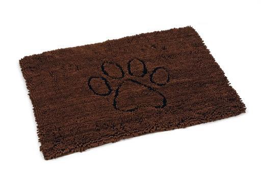 Dirty dog droogloopmat hond bruin 90x66 cm