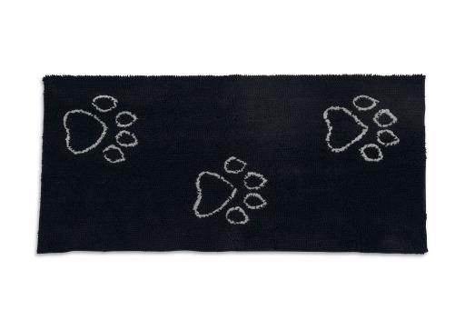 Dirty dog droogmatloper hond zwart 152x76 cm