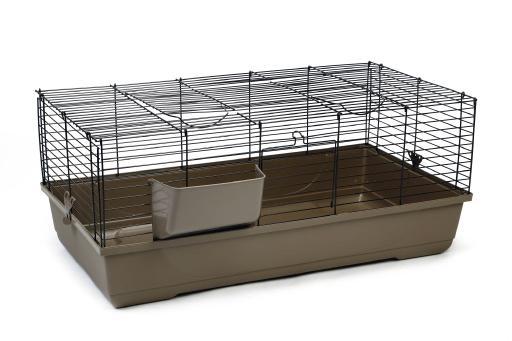 Korting Baldo konijnenkooi mokka 100x53x46 cm
