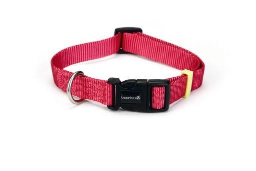 Beeztees uni - halsband hond - roze - 26-40 cm x 15 mm