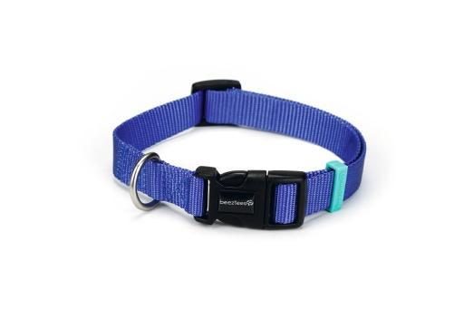 Beeztees uni - halsband hond - blauw - 35-50 cm x 20 mm