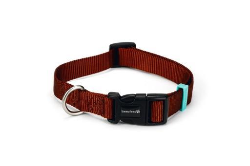 Beeztees uni halsband hond lichtbruin 48 70 cm x 25 mm