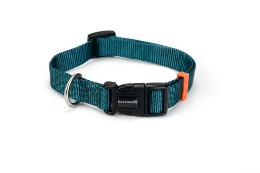 Beeztees uni - halsband hond - donkergroen - 35-50 cm x 20 mm