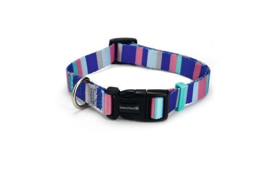 Beeztees stripes - halsband hond - multi - 26-40 cm