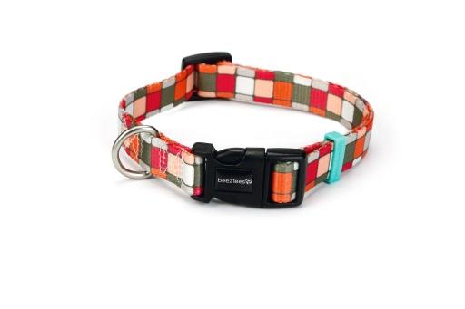 Beeztees square - halsband hond - multi - 48-70 cm