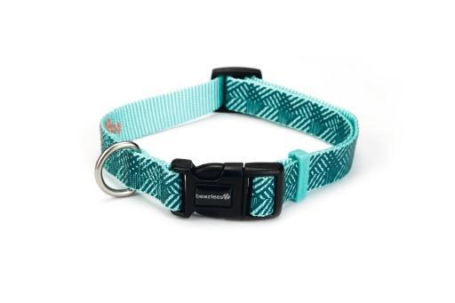 Beeztees geo - halsband hond - donkergroen - 20-30 cm