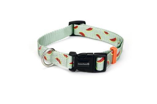 Beeztees melon - halsband hond - lichtgroen - 48-70 cm