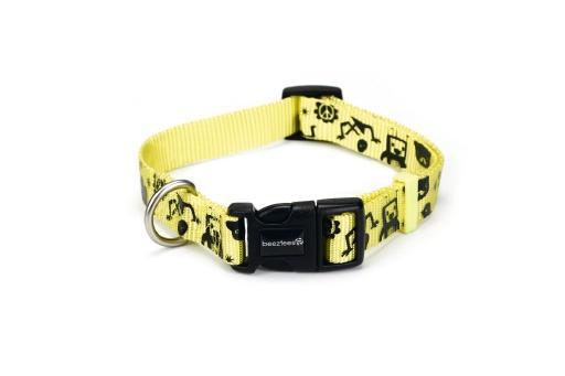 Beeztees monster halsband hond geel 20 30 cm x 10 mm