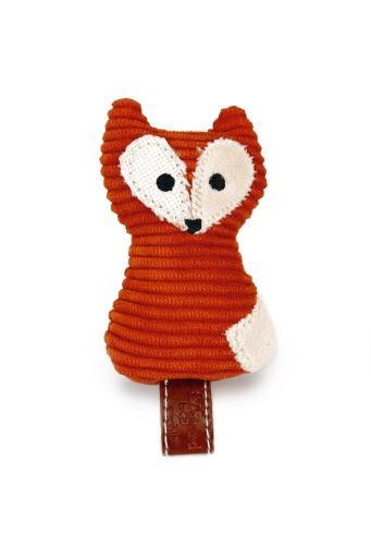 Desiged by lotte zerka - kattenspeelgoed - textiel - oranje - 9 cm