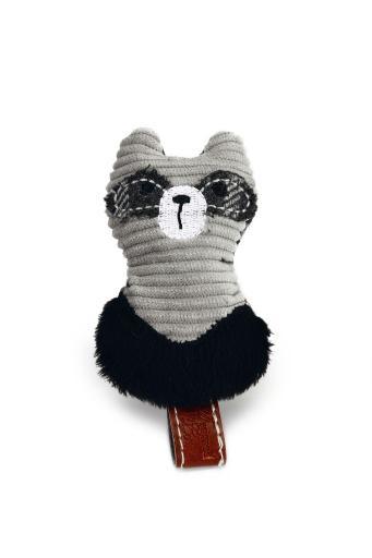 Designed by lotte rami - kattenspeelgoed - textiel - grijs - 9 cm