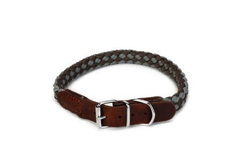 Beeztees korda - halsband hond - grijs/lichtgrijs - 47-53 cm