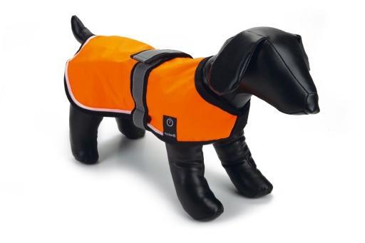 Beeztees safety gear veiligheidsvest - hond - led+usb - xs