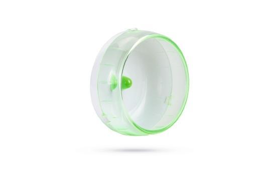 Beeztees runny looprad - knaagdier - groen - 14 cm