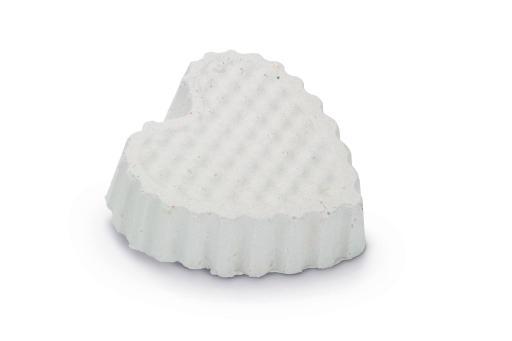 Beeztees knaagsteen hart - knaagdier - wit - 6x6 cm