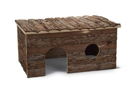 Beeztees royal forest blokhut - knaagdier - 50x33x25 cm