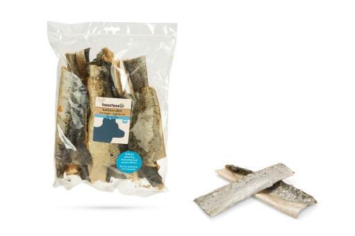 Beeztees zalmhuid hondensnack 150 gram