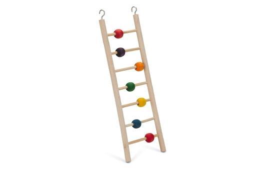 Korting Beeztees beady ladder vogelspeelgoed 7 treden 30 cm