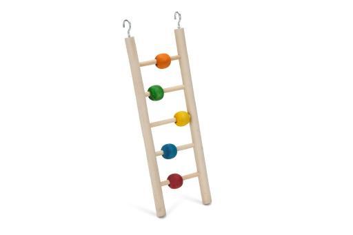 Beeztees beady ladder - vogelspeelgoed - 5 treden - 23 cm