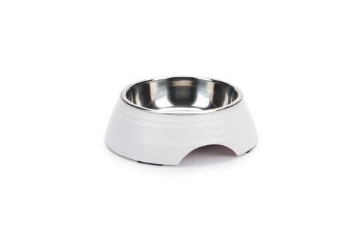 Beeztees rimpu - hondenvoerbak - melamine - wit - 14 cm