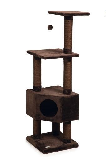 Beeztees figado - krabpaal - bruin - 40x40x135 cm