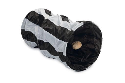 Beeztees cruzzle kattentunnel nylon zwart wit 50x26 cm