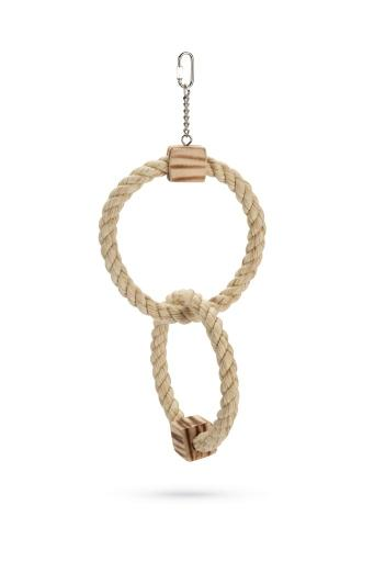 Korting Beeztees swingie vogelspeelgoed hout bruin 43 cm