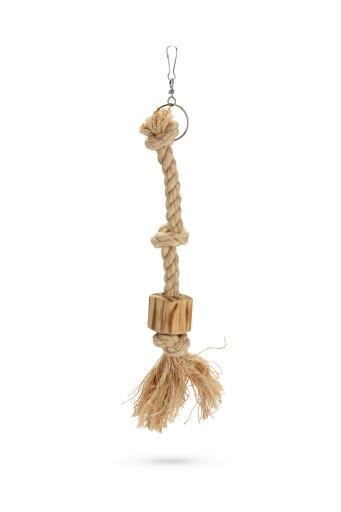 Korting Beeztees aiko vogelspeelgoed hout bruin s 45 cm