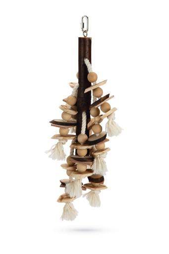 Beeztees balto - vogelspeelgoed - hout - bruin - 47 cm