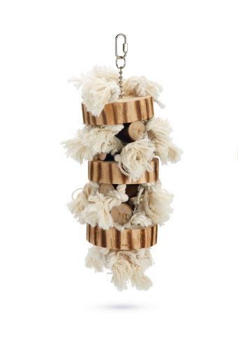 Beeztees holzy - vogelspeelgoed - hout - 38 cm