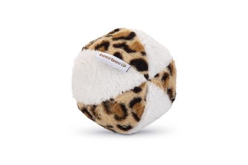 Beeztees safari bal hondenspeelgoed wit bruin 11x11x11 cm