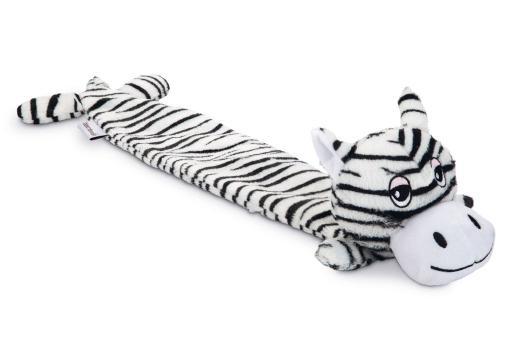 Beeztees zebra hondenspeelgoed zwart wit 53x10x5 cm