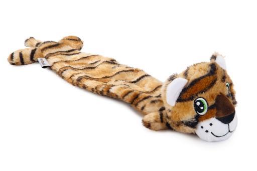 Beeztees tijger hondenspeelgoed bruin 53x10x5 cm