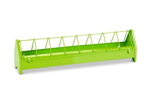 Kippenvoerbak - metaal - groen - 50 cm